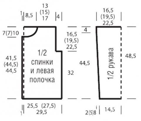 Схема вязания цветной кардиган с узором из «сот» раздел вязание спицами для женщин кофты спицами женские