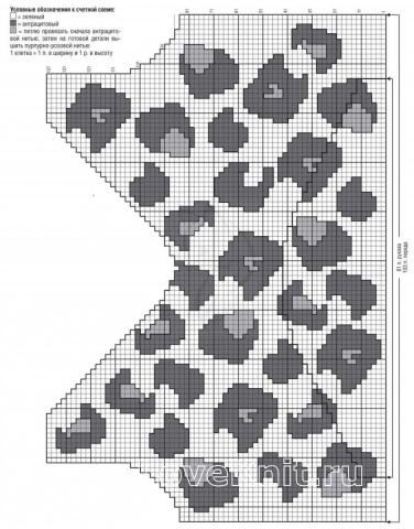 Схема вязания цветной пуловер с глубоким вырезом раздел вязание спицами для женщин кофты спицами женские