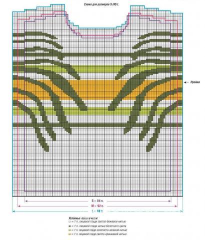 Схема вязания цветной пуловер в технике интарсия раздел вязание спицами для женщин кофты спицами женские