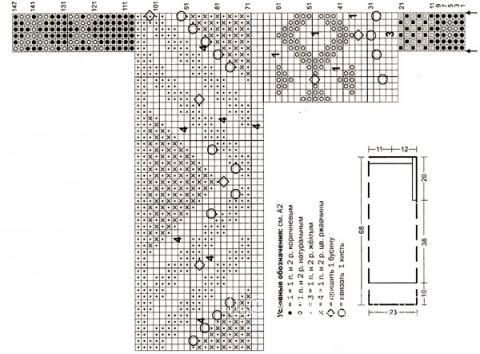 Схема вязания цветной топ с бахромой раздел вязание спицами для женщин кофты спицами женские