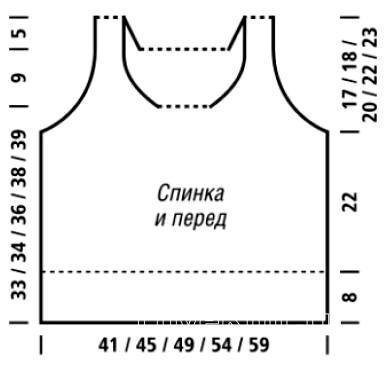 Схема вязания цветной топ на бретелях с завязками раздел вязание спицами для женщин кофты спицами женские