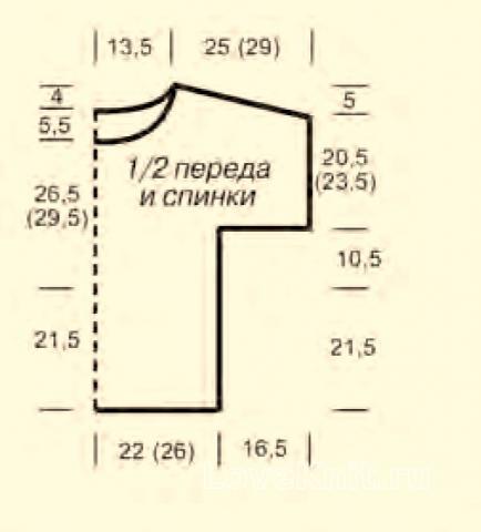 Схема вязания цветной топ с узором из протяжек раздел вязание спицами для женщин кофты спицами женские