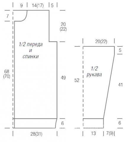 Схема вязания цветной жакет с контрастным узором раздел вязание спицами для женщин кофты спицами женские
