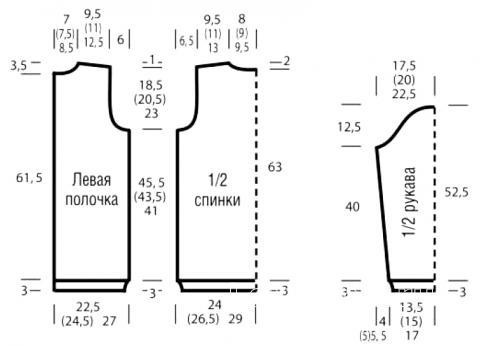 Схема вязания цветной жакет на молнии раздел вязание спицами для женщин кофты спицами женские