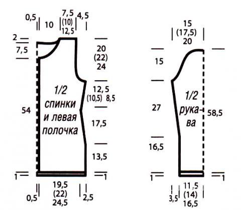 Схема вязания цветной жакет на пуговицах раздел вязание спицами для женщин кофты спицами женские