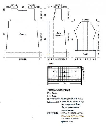Схема вязания длинный кардиган с косами раздел вязание спицами для женщин кофты спицами женские