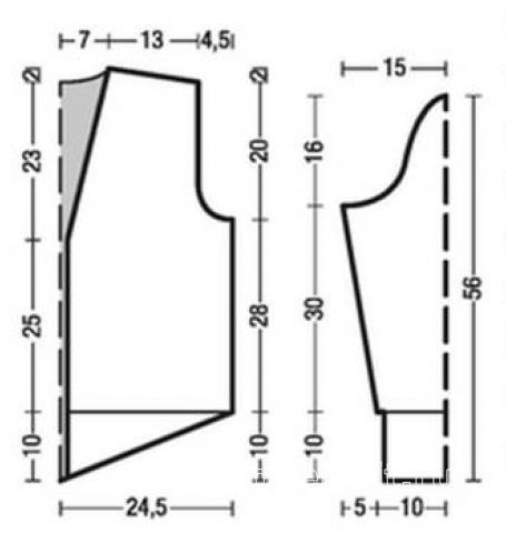 Схема вязания длинный кардиган с узором из ажурных ромбов раздел вязание спицами для женщин кофты спицами женские