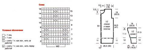 Схема вязания длинный кардиган с узором из сот раздел вязание спицами для женщин кофты спицами женские