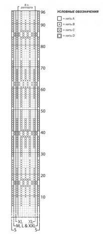 Схема вязания длинный свободный свитер с рисунком раздел вязание спицами для женщин кофты спицами женские