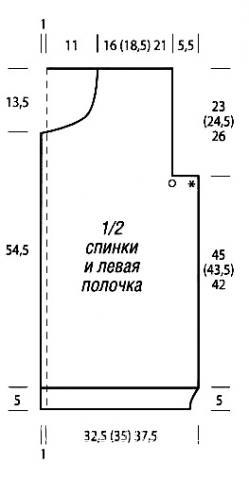 Схема вязания длинный жакет с объемным узором раздел вязание спицами для женщин кофты спицами женские