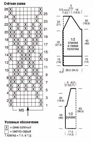 Схема вязания длинный жакет с пуговицами раздел вязание спицами для женщин кофты спицами женские