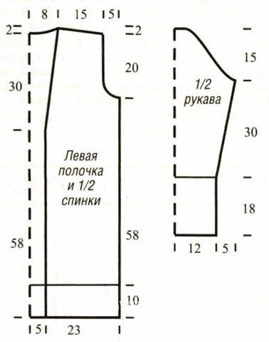 Схема вязания длинный жакет с шалевым воротником раздел вязание спицами для женщин кофты спицами женские