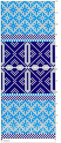 Схема вязания длинный жаккардовый пуловер раздел вязание спицами для женщин кофты спицами женские