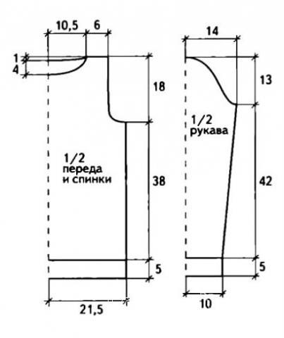 Схема вязания двухцветный джемпер с вязаными кольцами раздел вязание спицами для женщин кофты спицами женские