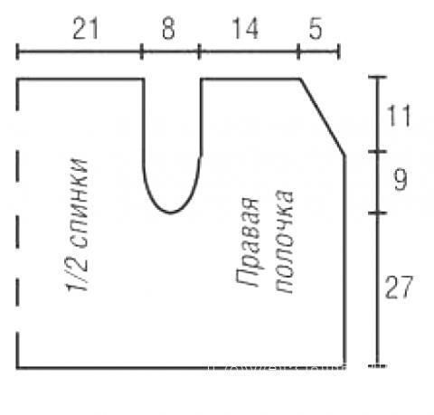 Схема вязания двухцветный короткий жакет с рукавом 3\4 раздел вязание спицами для женщин кофты спицами женские