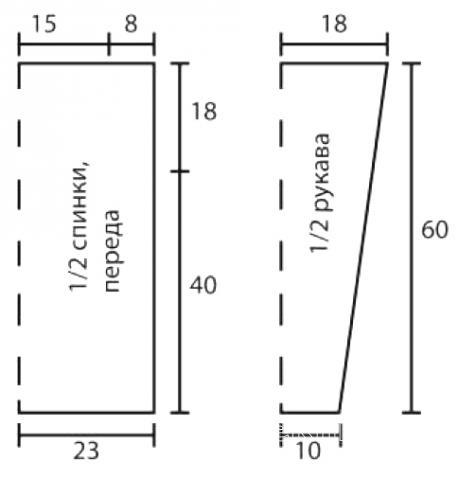 Схема вязания джемпер с ажурным рисунком раздел вязание спицами для женщин кофты спицами женские