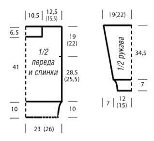Схема вязания джемпер с филигранным ажурным узором раздел вязание спицами для женщин кофты спицами женские