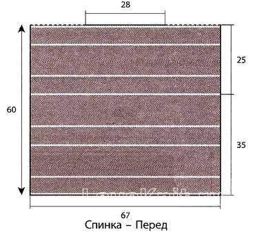 Схема вязания джемпер с горизонтальным узором раздел вязание спицами для женщин кофты спицами женские