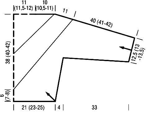 Схема вязания джемпер с контрастными рисунком раздел вязание спицами для женщин кофты спицами женские