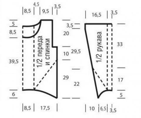 Схема вязания джемпер с косами и диагональными полосами раздел вязание спицами для женщин кофты спицами женские