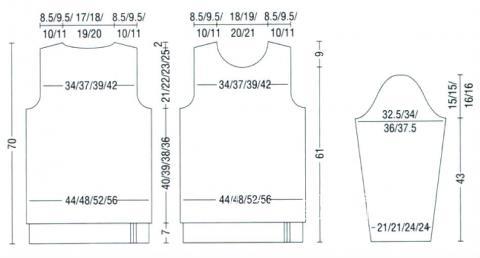Схема вязания джемпер с круглым вырезом в черно-белой гамме раздел вязание спицами для женщин кофты спицами женские