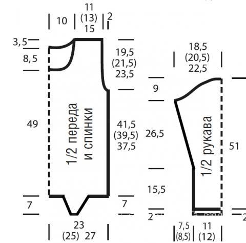 Схема вязания джемпер с крупным рельефным узором раздел вязание спицами для женщин кофты спицами женские
