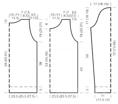 Схема вязания джемпер с пушистой полочкой раздел вязание спицами для женщин кофты спицами женские