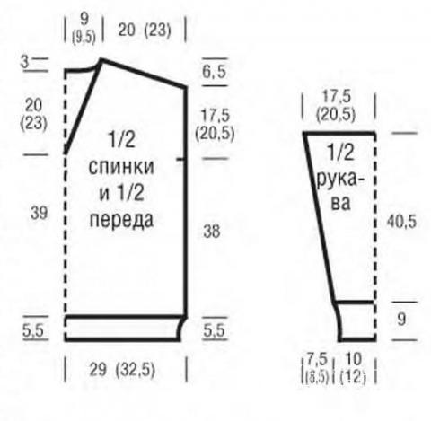 Схема вязания джемпер с рельефным узором клетка раздел вязание спицами для женщин кофты спицами женские