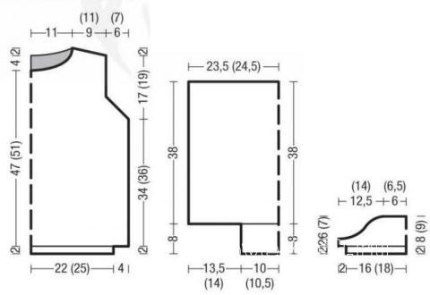 Схема вязания джемпер с рукавами буф раздел вязание спицами для женщин кофты спицами женские