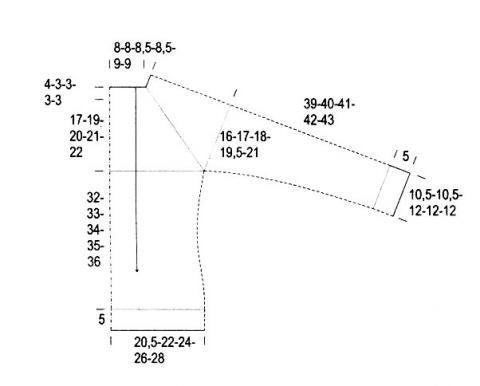 Схема вязания джемпер с рукавом реглан раздел вязание спицами для женщин кофты спицами женские