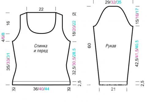Схема вязания джемпер со структурным узором раздел вязание спицами для женщин кофты спицами женские
