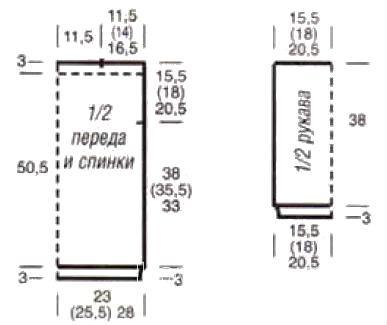 Схема вязания джемпер с веерным узором раздел вязание спицами для женщин кофты спицами женские