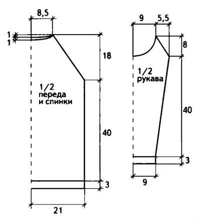 Схема вязания джемпер с вырезами на плечах раздел вязание спицами для женщин кофты спицами женские