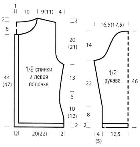 Схема вязания кардиган на пуговицах с сетчатым узором раздел вязание спицами для женщин кофты спицами женские