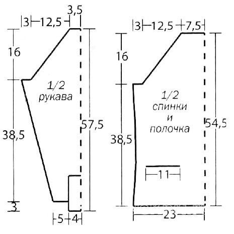 Схема вязания кардиган реглан с вязаными пуговицами раздел вязание спицами для женщин кофты спицами женские
