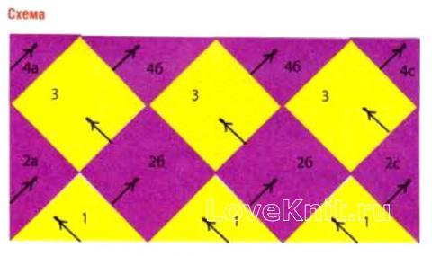 Схема вязания кардиган в технике энтрелак раздел вязание спицами для женщин кофты спицами женские