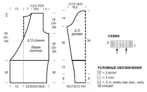 Схема вязания кардиган с запахом на тонком пояске раздел вязание спицами для женщин кофты спицами женские
