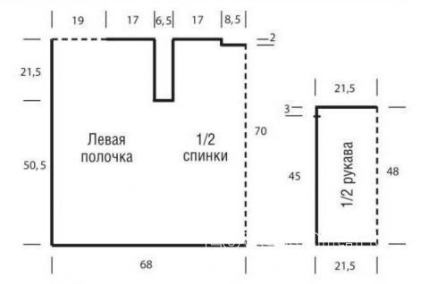 Схема вязания кардиган без застежек с зубчатым узором раздел вязание спицами для женщин кофты спицами женские