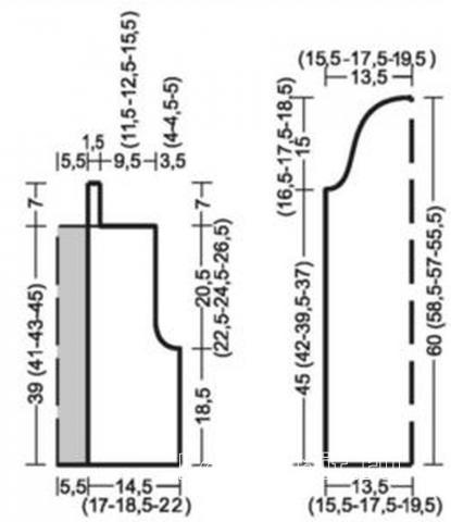 Схема вязания кашемировая кофта со стразами раздел вязание спицами для женщин кофты спицами женские
