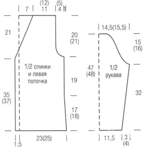 Схема вязания классический приталенный жакет на пуговицах раздел вязание спицами для женщин кофты спицами женские