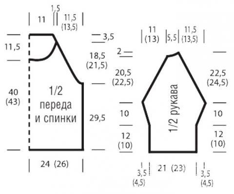 Схема вязания кофта с ажурным узором в виде сердечка раздел вязание спицами для женщин кофты спицами женские