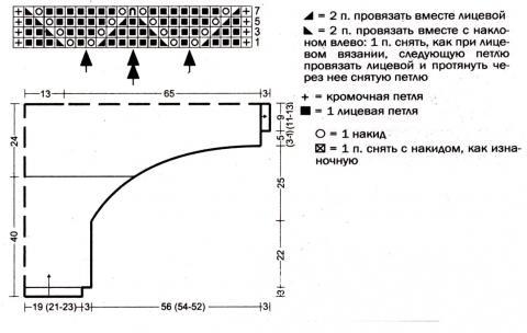 Схема вязания кофта с большим воротником раздел вязание спицами для женщин кофты спицами женские
