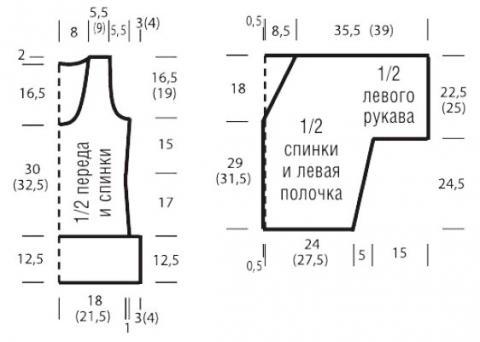 Схема вязания комплект из ажурного топа и укороченного свободного жакета раздел вязание спицами для женщин кофты спицами женские