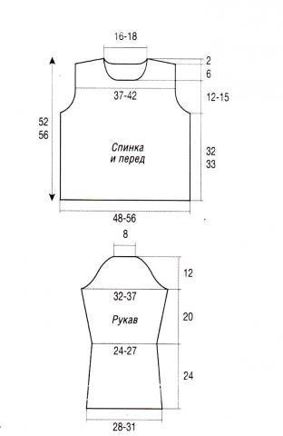 Схема вязания коричневый джемпер с широким воротником раздел вязание спицами для женщин кофты спицами женские