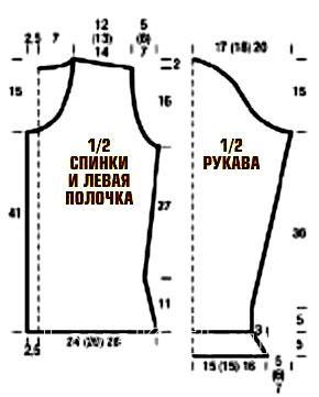 Схема вязания коричневый жакет раздел вязание спицами для женщин кофты спицами женские