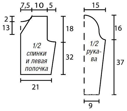 Схема вязания короткая ажурная кофта раздел вязание спицами для женщин кофты спицами женские