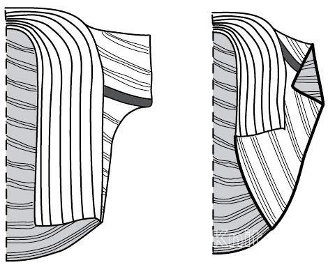 Схема вязания короткая накидка с широким воротником раздел вязание спицами для женщин кофты спицами женские