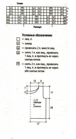 Схема вязания короткий белый топ без рукавов раздел вязание спицами для женщин кофты спицами женские