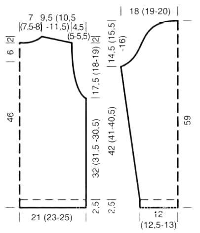 Схема вязания короткий джемпер с геометрическим узором раздел вязание спицами для женщин кофты спицами женские