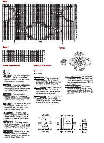 Схема вязания короткий жакет раздел вязание спицами для женщин кофты спицами женские